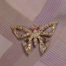 Aurora Borealis Rainbow Butterfly Costume Jewelry PIN