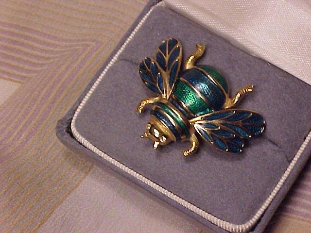 Jewel Enamel Bumblebee Bee Pin Brooch ~ Free Shipping