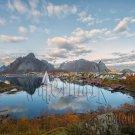 Digital Photo Wallpaper Background Screensaver Desktop-Village on a mountain lake