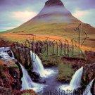 Digital Photo Wallpaper Background Screensaver Desktop-Majestic mountain and waterfalls