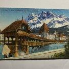 UNUSED VINTAGE POSTCARD - KAPPELBRUCKE UND PILATUS LUZERN SWITZERLAND (KK2570)