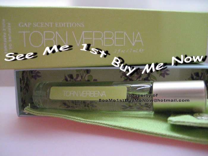 GAP BODY Scent Editions TORN VERBENA perfume oil New Purse Size retired