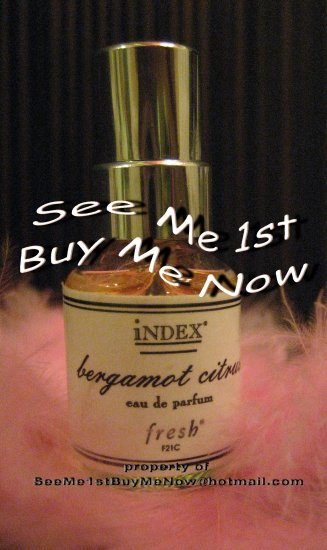 FRESH iNDEX Chronicles f21c BERGAMOT CITRUS EDP 5ml perfume spray NOT A TESTER retired/discontinued