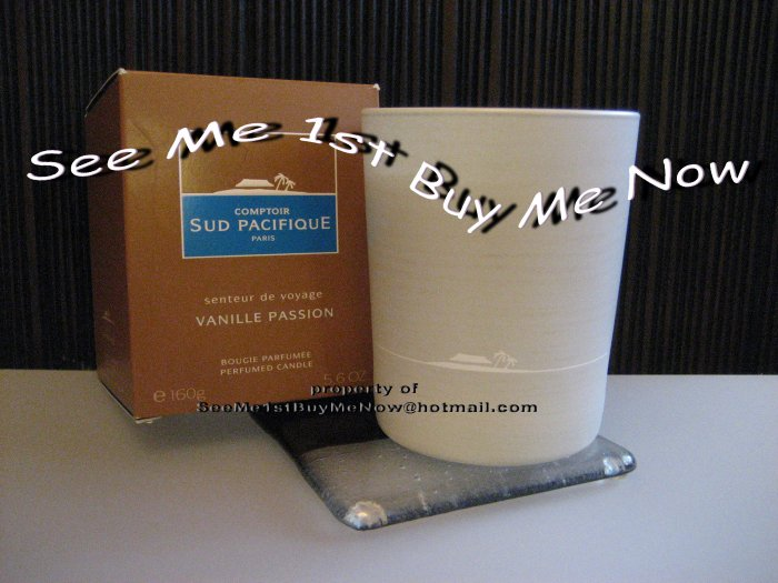 VANILLE PASSION Comptoir Sud Pacifique CSP Candle - pure vanilla~paraffin + 10% pure fragrance! NEW