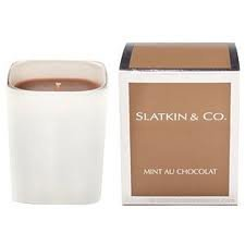 Slatkin & Co MINT AU CHOCOLATE Candle mint chcolat 40+ Hour Burn Time NEW