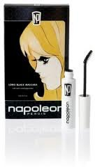 Long Black Mascara NAPOLEON PERDIS Natural Beeswax Fortify Eyelashes ~ bent wand DOUBLE BLACK