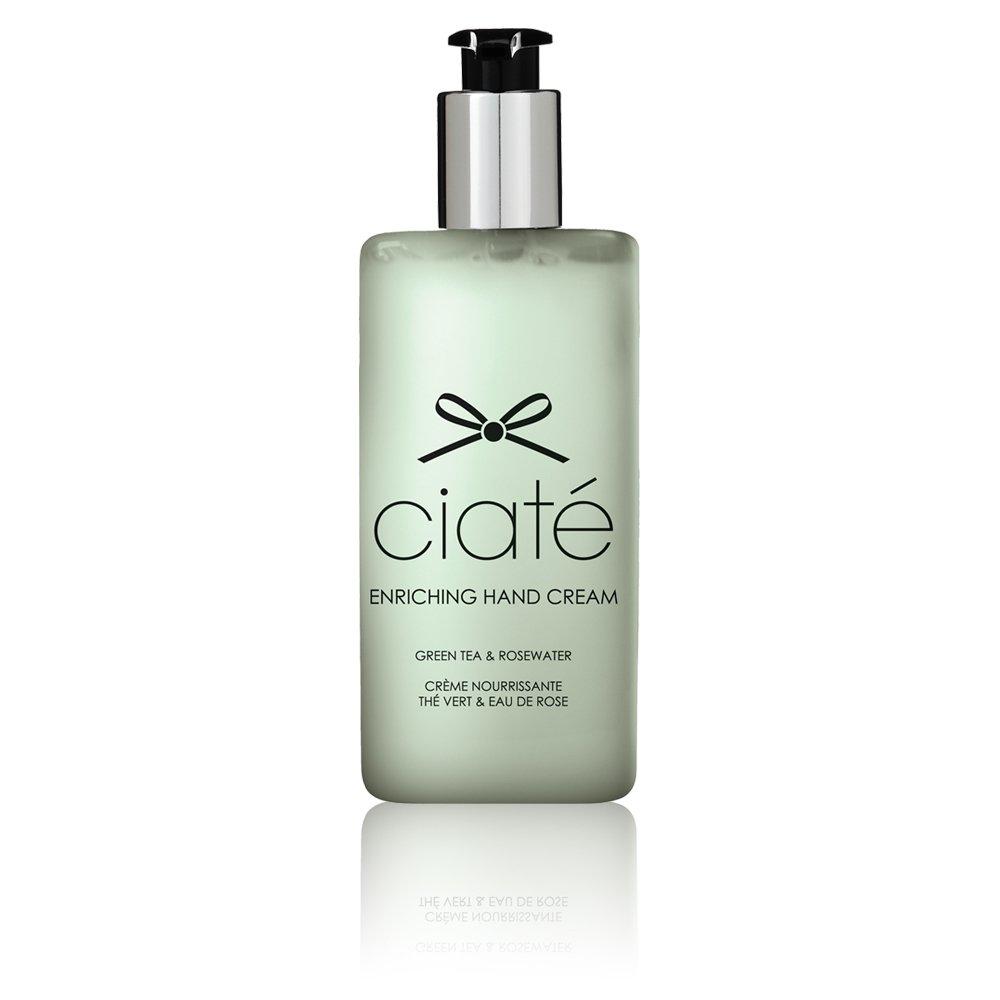 Ciaté GREEN TEA ROSEWATER Enriching Hand Nail Cream SHEA BUTTER ALMOND OIL non-greasy CIATE lotion