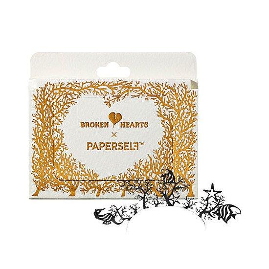 PAPERSELF eyelashes � Broken Hearts UNDER THE SEA � seahorse coral False Paper Art Eye Lashes