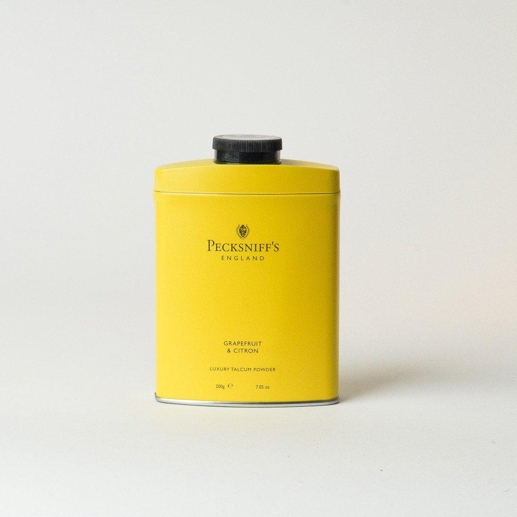 PECKSNIFF'S ENGLAND Talcum Powder GRAPEFRUIT & CITRON scented talc Dry Shampoo absorb moisture