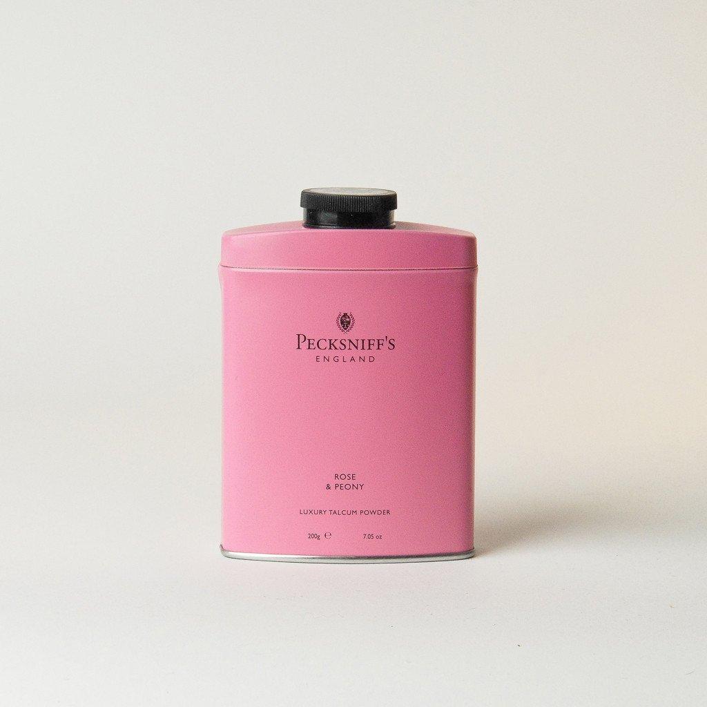 PECKSNIFF'S ENGLAND Talcum Powder ROSE & PEONY scented talc Dry Shampoo absorb moisture