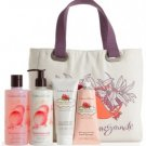 Crabtree & Evelyn POMEGRANATE ARGAN GRAPESEED Lux Tote Gift Set HAND RECOVERY TREATMENT CREAM WASH