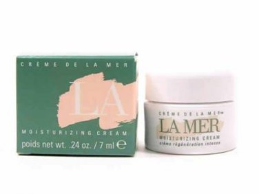 CREME DE LA MER Max Huber LA MER MOISTURIZING CREAM 7ml/.24oz Deluxe Sample Miniature Travel Jar NEW