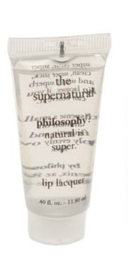 philosophy THE SUPERNATURAL LIP LACQUER super clean CLEAR slick Top Coat Gloss