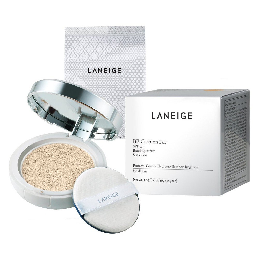 Korean LANEIGE (Amore Pacific) BB Cushion SPF 50 Broad Spectrum Face FAIR Foundation Compact