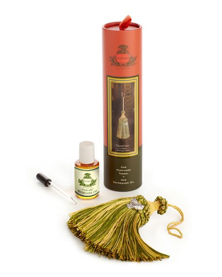 AGRARIA TasselAire GOLDEN POMEGRANATE Perfumed Scented Tassel + Refresher Oil discontinued retired