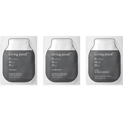 Living Proof PERFECT HAIR DAY phD SHAMPOO 5-in-1 Styling Treatment CONDITIONER 3-piece Sample Set