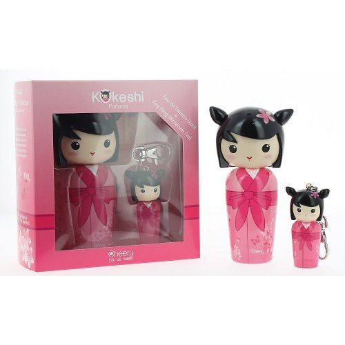 Kokeshi Parfumes Miniature Doll Keyring CHEERY Lucky Charm Eau de Toilette Apple CHERRY BLOSSOM Musk