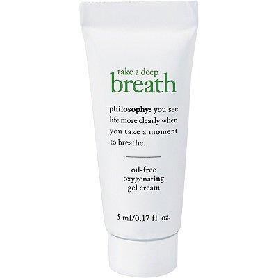 philosophy TAKE A DEEP BREATH Oil-Free Oxygenating GEL-CREAM face moisturizer 5mL Sealed Travel Tube