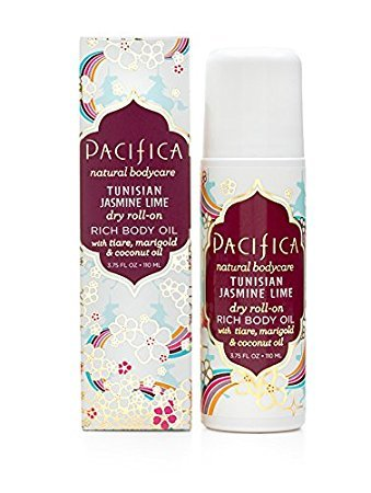Pacifica Natural TUNISIAN JASMINE LIME dry roll-on RICH BODY OIL tiare Marigold coconut Jojoba OILS