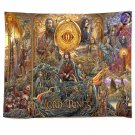 """Lord Of The Rings The Two Towers Tapestry 50""""x60 Wall Hanging Decor"""