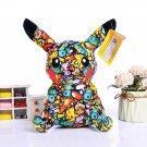 Psychedelic Pikachu Pokemon Plush 20cm Cute Plushie