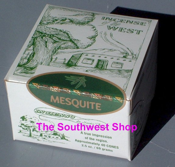 Incense of the West, Box of 40 Cones, Mesquite