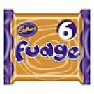 Cadbury's fudge (finger of fudge )six pack from the UK