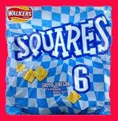 Walkers square crisps Salt and Vinegar 6 pack from UK