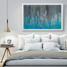 original colorful turquoise abstract painting modern wall decor