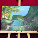 Colorful original seascape oil painting on canvas