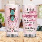 Custom Tumbler Crazy Daughter Tumblers Straws Stainless Steel Tumbler Travel Mug