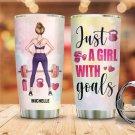 Custom Tumbler Fitness Girl Tumblers Straws Stainless Steel Tumbler Travel Mug