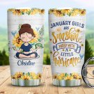 Custom Tumbler Hurricane Girl Tumblers Straws Stainless Steel Tumbler Travel Mug