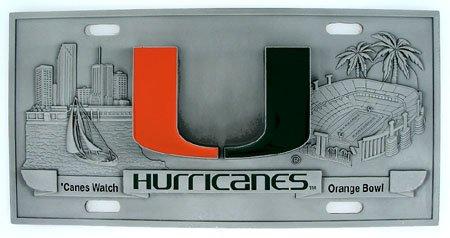 Miami Hurricanes License Plate