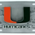 Miami Hurricanes License Plate