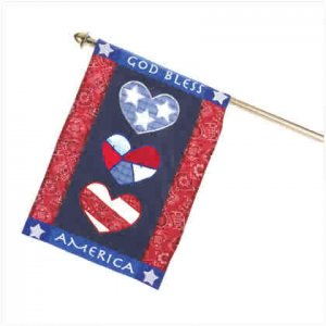 God Bless America Mini Flag