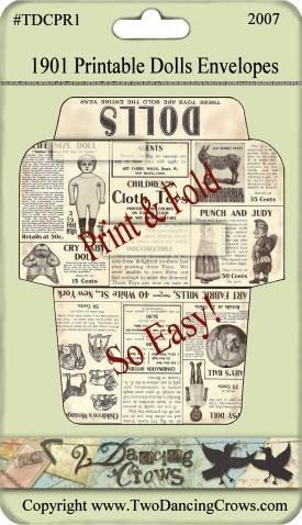 1901 Dolls Printable Envelopes