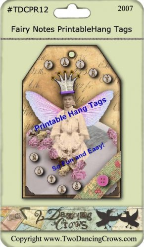 Altered Fairy Notes Hang Tags Printable