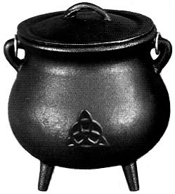 3.5 inch Cast Iron Cauldron with Lid, Charmed