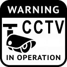 CCTV Camera In Operation Vinyl Decal Stickers Window Hidden Cam Warning