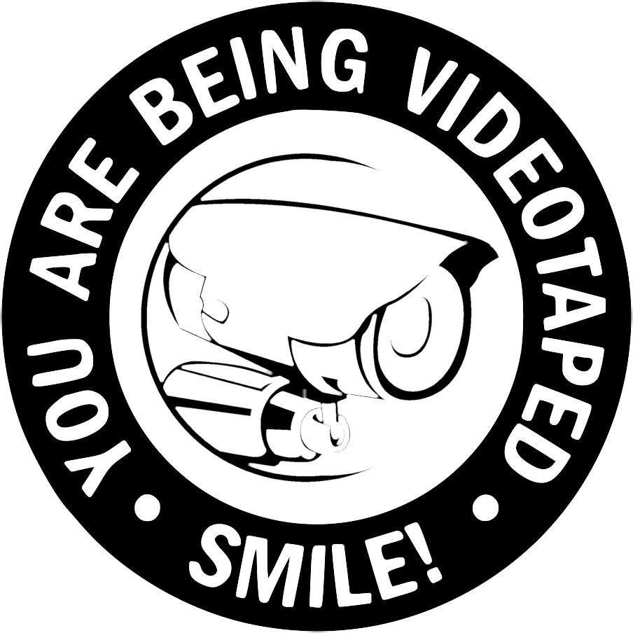 Smile! You Are Being Videotaped Vinyl Decal Stickers Window Hidden Cam Warning