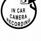 In Car Camera Recording Vinyl Decal Stickers Window CCTV Hidden Cam Warning