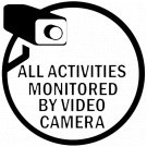 All Activities Monitored By Video Camera Vinyl Decal Stickers Car Window CCTV Hidden Cam Warning