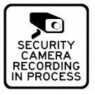 Security Camera Recording in Progress Vinyl Decal Stickers Car Window CCTV Hidden Cam Warning