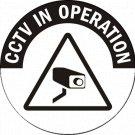 Security Camera Vinyl Decal Stickers Car Window CCTV in Operation Recording Hidden cam