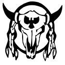 Native American Symbol Bull Skull Vinyl Decal Sticker for Car Laptop Wall Window Boat Indian Spirit