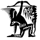 Indian Warrior With Bow And Arrows Vinyl Decal Sticker Native American Car Laptop Wall Window Boat