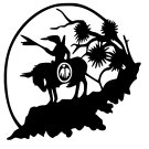 Indian Warrior On Horse Vinyl Decal Sticker Native American Symbol Car Laptop Wall Window Mailbox