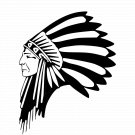 Native American Elder Warrior Symbol Vinyl Decal Sticker Car Laptop Wall Window Mailbox Indian