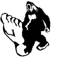 Bigfoot Design #12 Vinyl Decal Stickers Car Window Laptop iPhone Wall Sasquatch Yeti Humanoid Ape